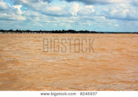 Yellow Waters Of Mekong Delta