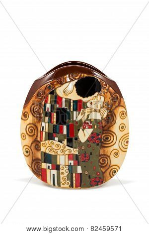 Flat Round Flower Vase