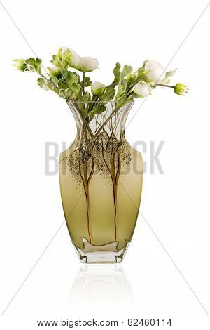 Bouquet In A Glass Matt Vase