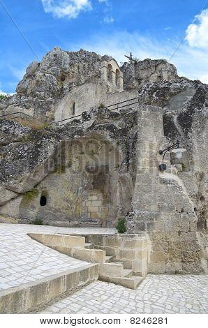 Madonna de Idris Rock-church. Sassi of Matera. Basilicata.