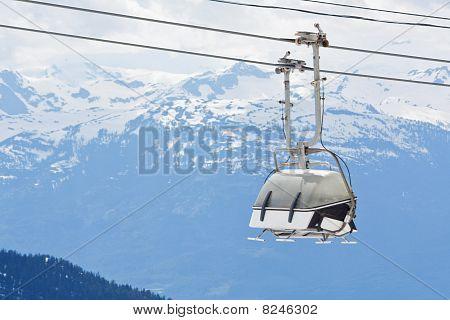 Chair Lift At Whistler Peak British Columbia