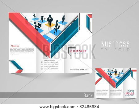 Professional trifold brochure, catalog and flyer template for business purpose.