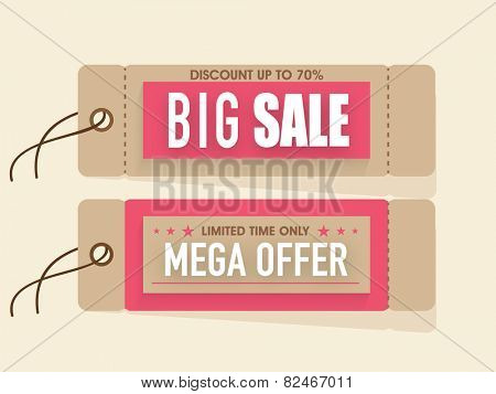 Big sale and discount tags for International Women's Day celebration.