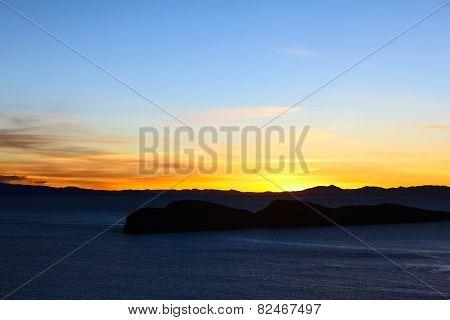 Sunset Over Lake Titicaca, Bolivia