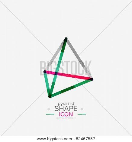 Pyramid shape line design, logo concept