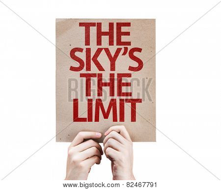 The Sky's The Limit card isolated on white background