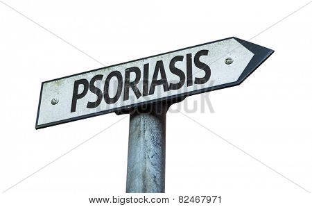 Psoriasis sign isolated on white background