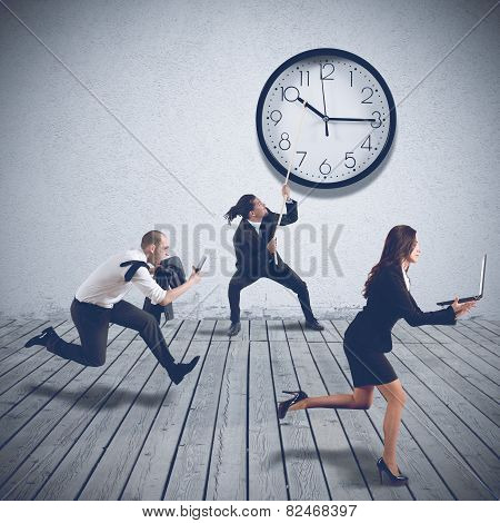 Working at full speed