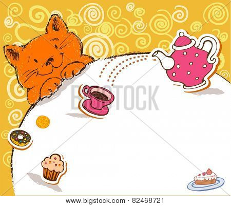 Cheerful illustrative card with the lovely character