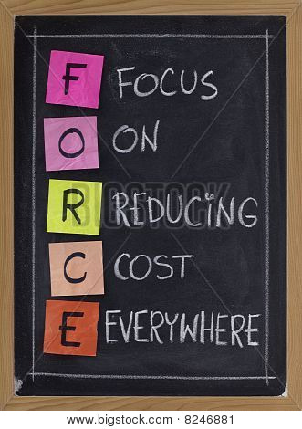 Focus On Reducing Cost Everywhere
