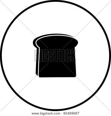 toast bread slice symbol