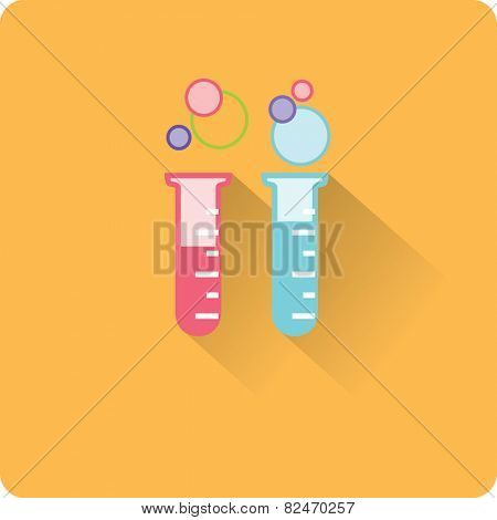 flat test tube icon