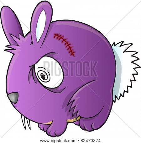 Vampire Bunny Rabbit Vector Illustration Art