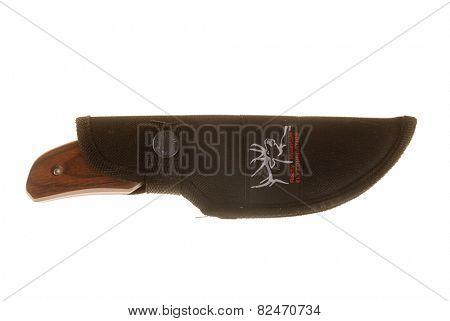 Hayward, CA - January 26, 2015: Commemorative Buck knife for the Rocky Mountain ELk Foundation