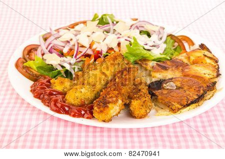 Chicken Tenders With Fried Frittata
