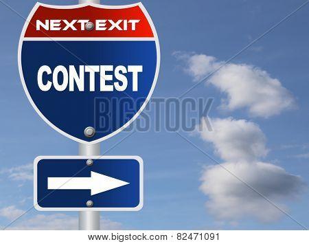 Contest road sign