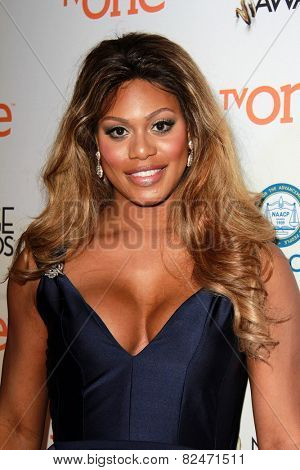 LOS ANGELES - FEB 5:  Laverne Cox at the 46th NAACP Image Awards Non-Televised Ceremony  at a Pasadena Convention Center on February 5, 2015 in Pasadena, CA