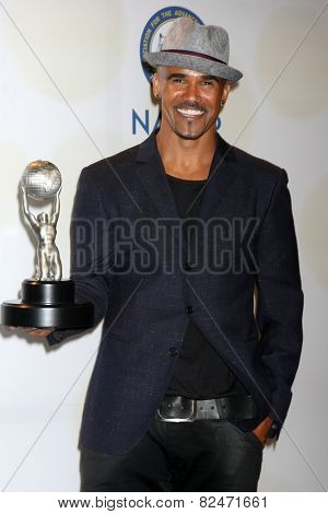 LOS ANGELES - FEB 6:  Shemar Moore at the 46th NAACP Image Awards Press Room at a Pasadena Convention Center on February 6, 2015 in Pasadena, CA
