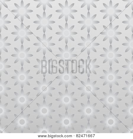 Silver Retro Dry Flower Pattern On Pastel Color