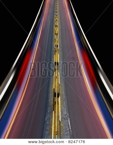 Fast-speed Highway Of City