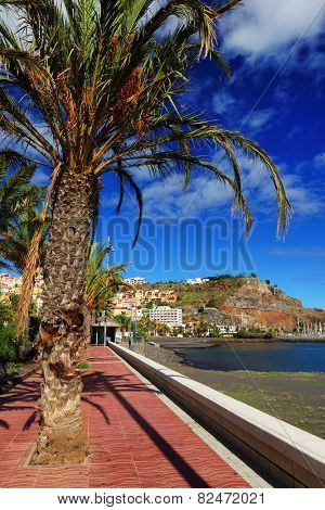 Beach of San Sebastian de la Gomera, Canary Islands, Spain