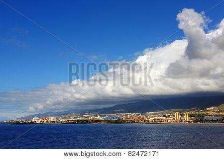 Los Cristianos resort in Tenerife, Canary Islands, Spain