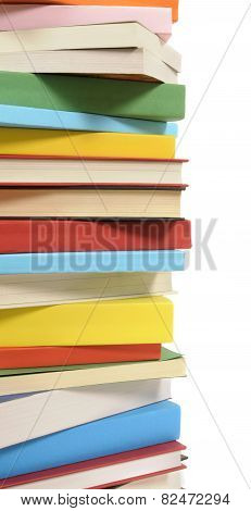 Vertical Border Of Colorful Books