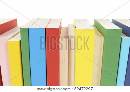 Row Of Colorful Paperback Books