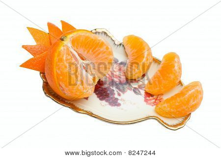 Tangerine Segments   Isolated