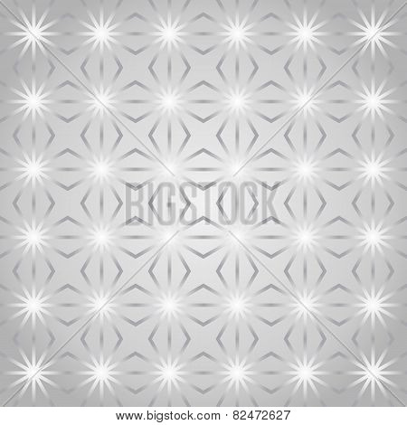 Silver Rhomboid And Circle Pattern On Pastel Color
