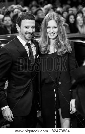 BERLIN, GERMANY - FEBRUARY 05: Oliver Berben with wife. Nobody Wants the Night, Openingceremony, 65th Berlinale International Film Festival at Berlinale Palace on February 5, 2015 in Berlin, Germany