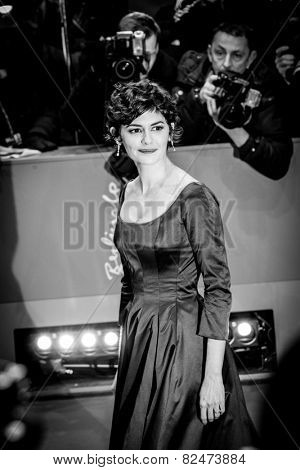 BERLIN, GERMANY - FEBRUARY 05: Audrey Tautou. Nobody Wants the Night, Opening Night premiere  65th Berlinale International Film Festival at Berlinale Palace on February 5, 2015 in Berlin, Germany