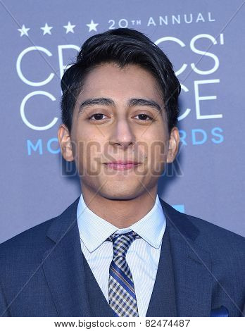 LOS ANGELES - JAN 16:  Tony Revolori arrives to the Critics' Choice Awards 2015  on January 16, 2015 in Hollywood, CA
