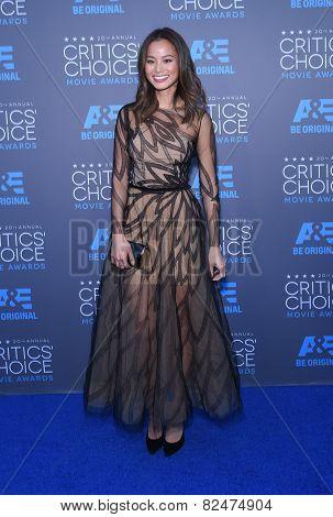 LOS ANGELES - JAN 16:  Jamie Chung arrives to the Critics' Choice Awards 2015  on January 16, 2015 in Hollywood, CA