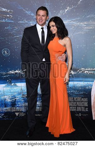 LOS ANGELES - FEB 02:  Channing Tatum & Jenna Dewan-Tatum arrives to the
