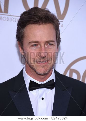 LOS ANGELES - JAN 24:  Edward Norton arrives to the 26th Annual Producers Guild Awards  on January 24, 2015 in Century City, CA