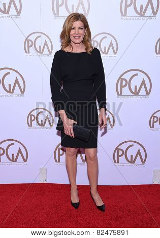 LOS ANGELES - JAN 24:  Rene Russo arrives to the 26th Annual Producers Guild Awards  on January 24, 2015 in Century City, CA