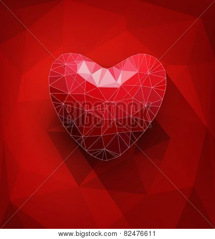 vector abstract background with hearts for Valentine's day