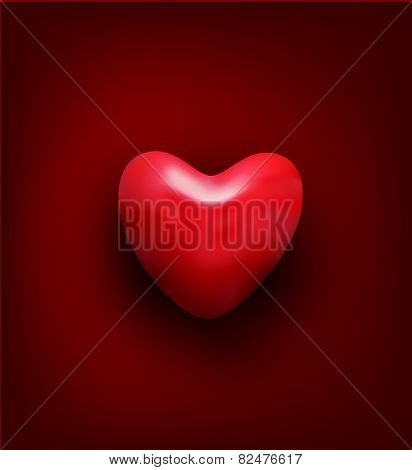 vector background for Valentine's day. Red heart