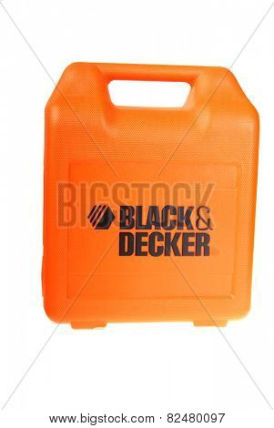 Hayward, CA - February 3, 2015: Black & Decker multi-piece tool kit - illustrative editorial