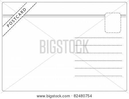 Simple Postcard Vector