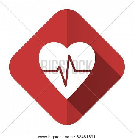 pulse flat icon heart rate sign