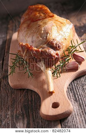 lamb leg on board