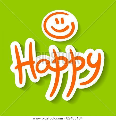 happy smiley - template for design