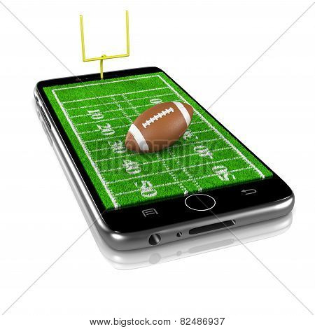 American Football On Smartphone, Sports App