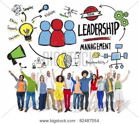 Diversity Casual People Leadership Management Celebration Success Concept