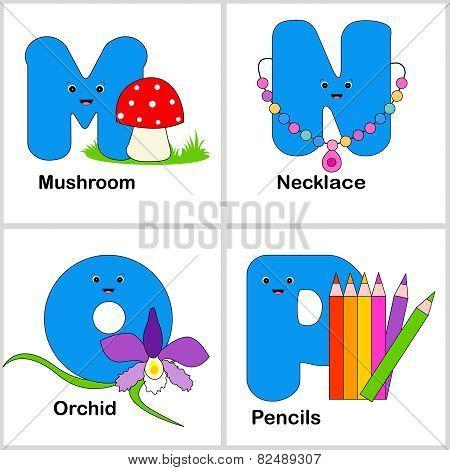 Alphabet Letters M , N, O, P
