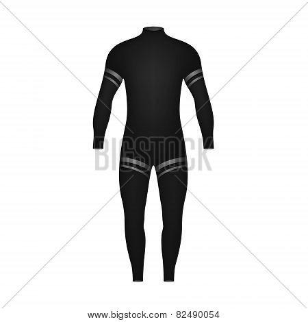 Diving suit in black design