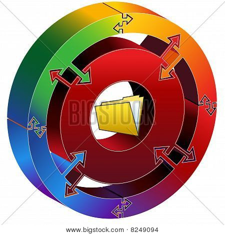 Process Chart Folder Rainbow