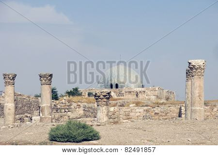 Buildings Of Amman Citadel In National Historic Site